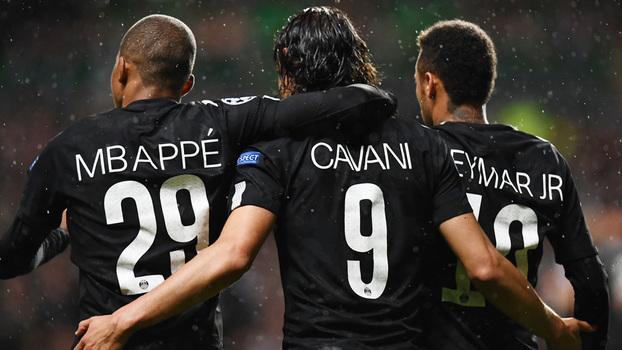 Trio garantiu a vitória do PSG (Crédito: Getty)