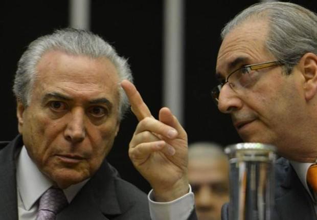 Michel Temer e Eduardo Cunha (Crédito: Agência Brasil/Arquivo)