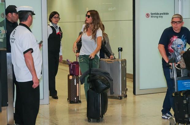 Gisele Bundchen chega no Brasil para participar no Rock in Rio (Crédito: Manuela Scarpa/Brazil News)