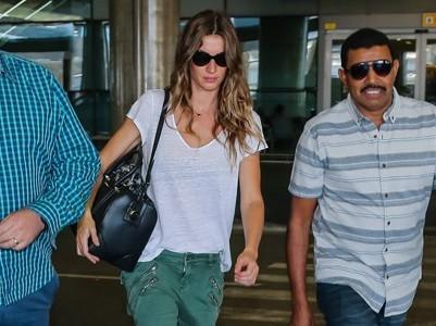 Gisele Bundchen chega no Brasil para participar no Rock in Rio