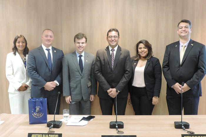 Reunião com o novo Cônsul Geral dos Estados Unidos no Recife, John Barrett, (Crédito: MP-PI)