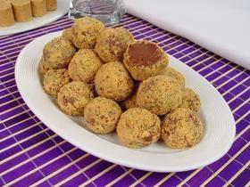 REVISTA: Receita - Brigadeiro de Paçoca com recheio de Nutella