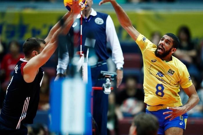Mais uma vez, Wallace foi decisivo no selecionado brasileiro  (Crédito: Divulgação / FIVB)