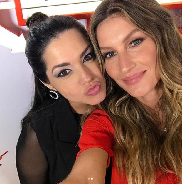 Thaís Fersoza e Teló tietam Gisele Bundchen no Rock in Rio (Crédito: Reprodução/Instagram)