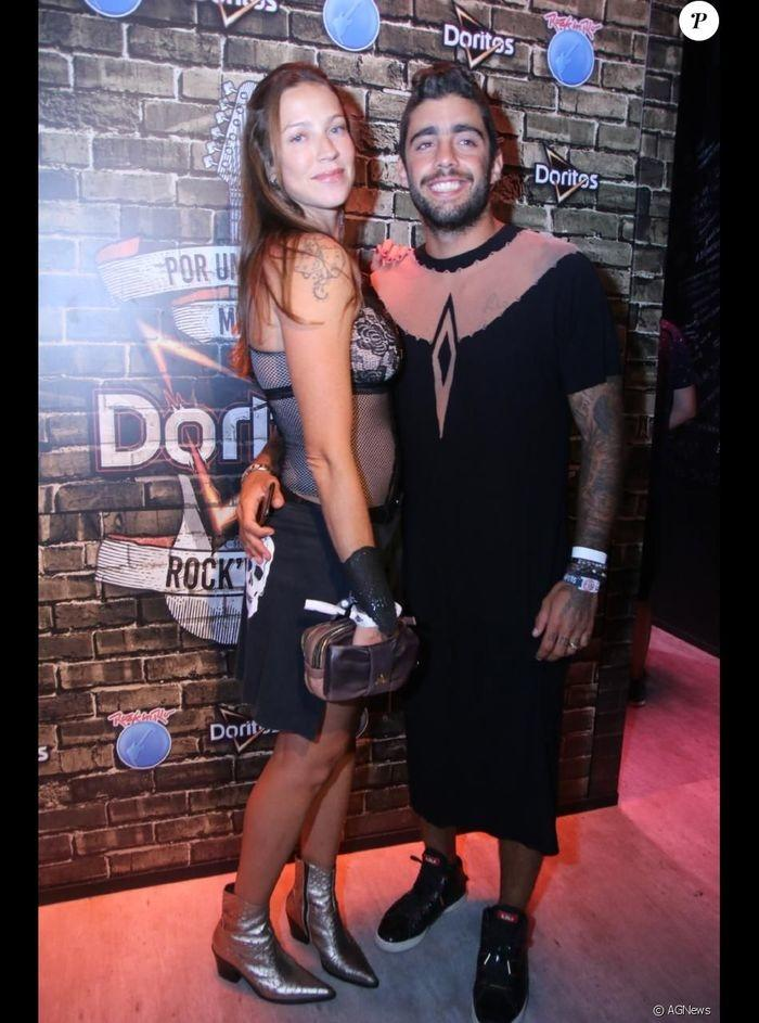 Luana Piovan e o marido (Crédito: Agência News)