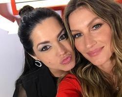 Thaís Fersoza e Teló tietam Gisele Bundchen no Rock in Rio