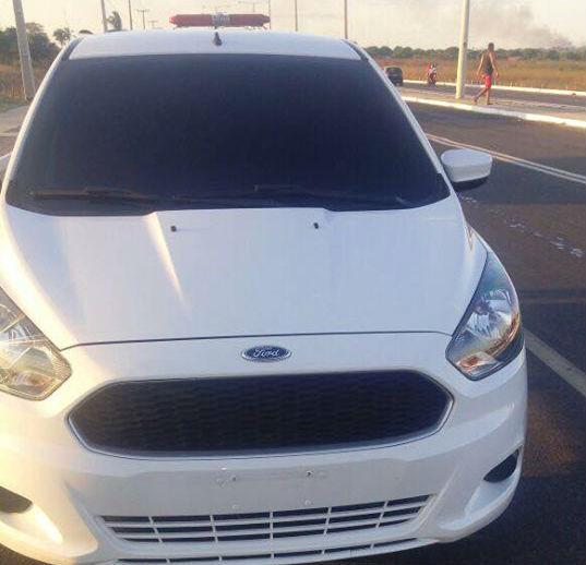 Veículo roubado pertence a um médico legista (Crédito: Polícia Militar)