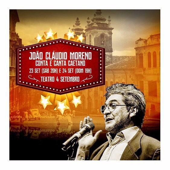 João Cláudio Moreno Conta e Canta Caetano acontece no fim de semana (Crédito: Divulgação)