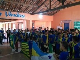 Escolas municipais realizam atividades em alusão a Semana da Pátria