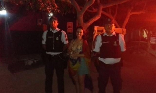 Suzana Dabess foi resgatada pela Polícia Militar (Crédito: SSPDS)