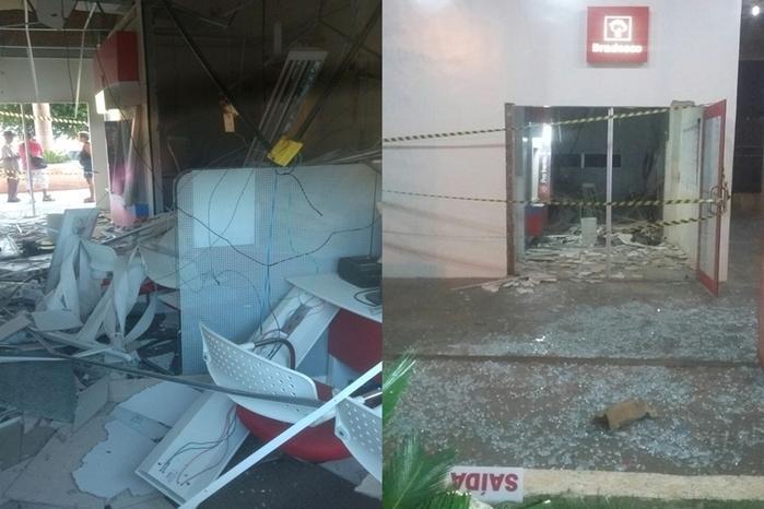 Agência ficou parcialmente destruída   (Crédito: Picos 40 Graus)