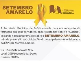Prefeitura vai realizar ações de prevenção ao suicídio