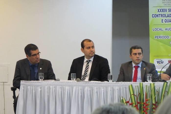 Delegado Reinaldo Camelo de Carvalho noSeminário de Formação de Controladores Sociais  (Crédito: TCE)