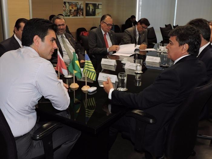Governador Wellington Dias em reunião com o ministro (Crédito: Reprodução)