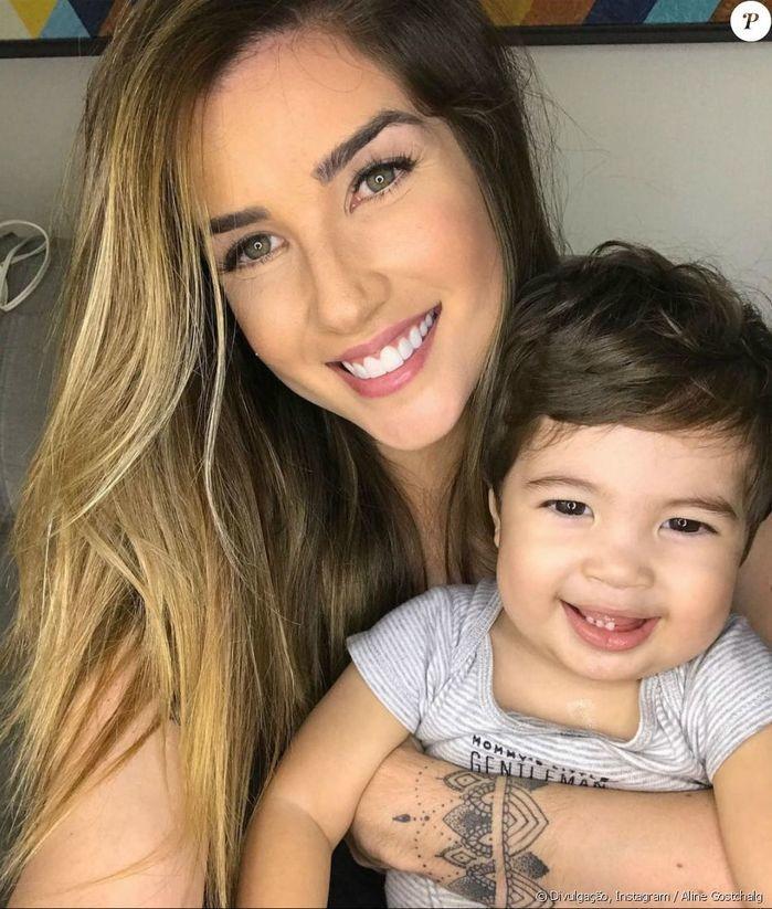 Aline Gotschalg confessa que dispensou babá para cuidar do filho  (Crédito: Reprodução/Instagram)