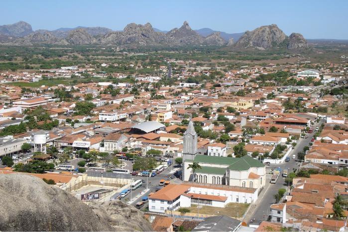 Quixadá, no Sertão Central do Ceará (Crédito: Wikipedia)
