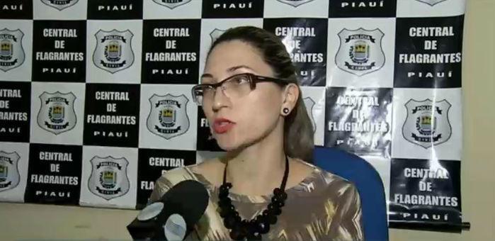 Delegada Ana Luiza, da Central de Flagrantes (Crédito: Rede Meio Norte)