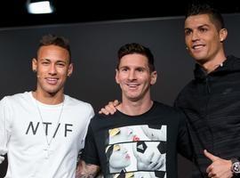 Neymar é finalista do melhor do mundo da Fifa com Messi e CR7
