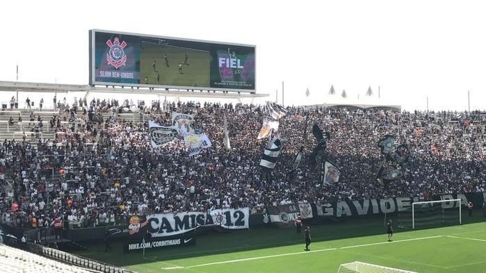 Jogadores do Corinthians agradeceram o apoio da torcida