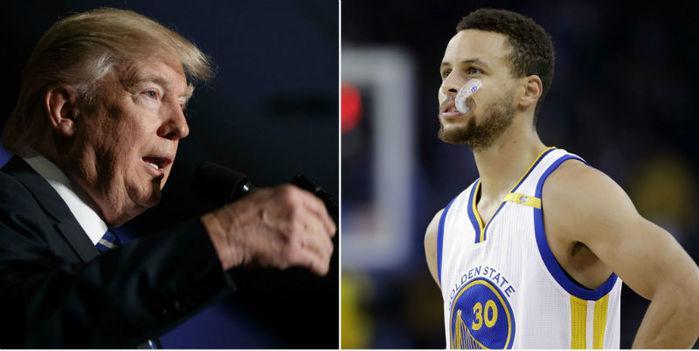 Stephen Curry afirmou não querer encontrar com o presidente (Crédito: Reprodução)