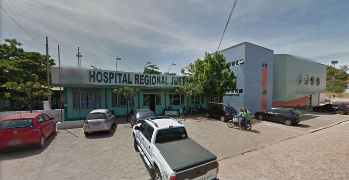 Mulher foi socorrida no Hospital Justino Luz (Crédito: Reprodução)