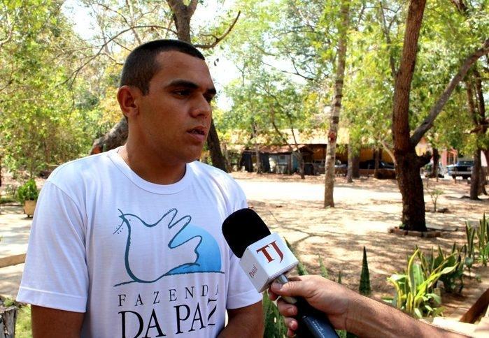 Crisando Carneiro passou pela Audiência de Custódia e decidiu entrar no programa Ressocializar Para Não Prender (Crédito: TJ-PI)
