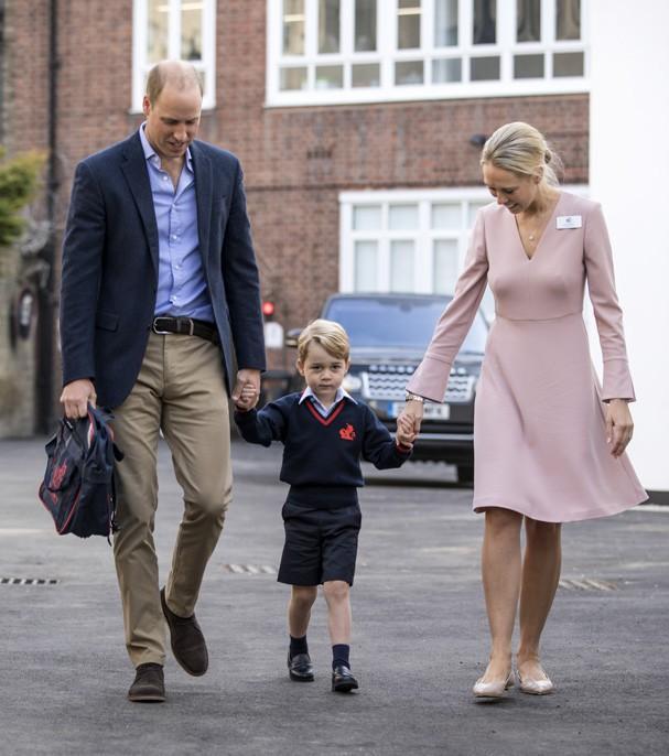 Príncipe George em seu primeiro dia de aula (Crédito: Getty Images)
