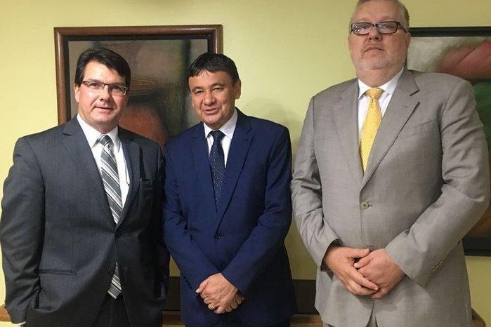 Wellington Dias durante reunião em Brasília (Crédito: Divulgação)