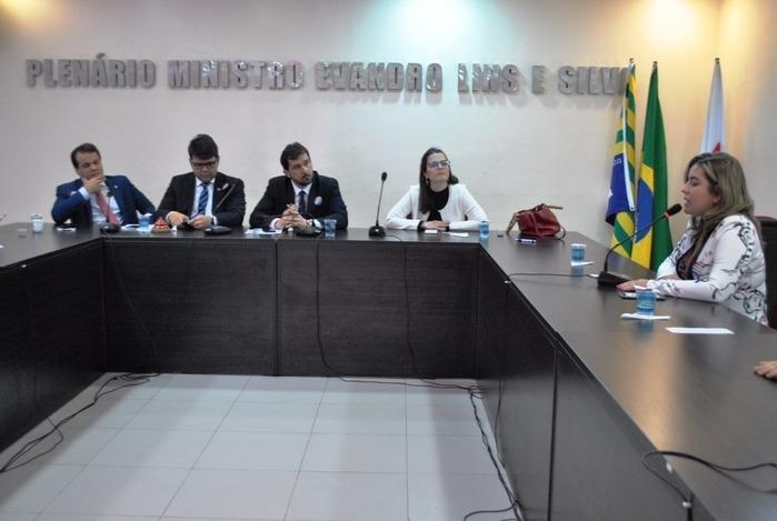 Representantes durante encontro no auditório da OAB (Crédito: MP-PI)
