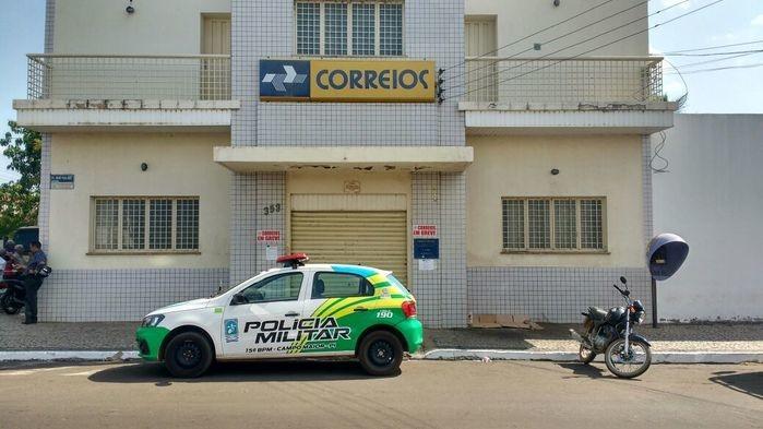Agência dos Correios em Campo Maior foi invadida por bandidos (Crédito: Campomaioremfoco)