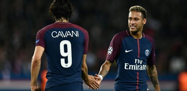 Cavani e Neymar (Crédito: AFP)