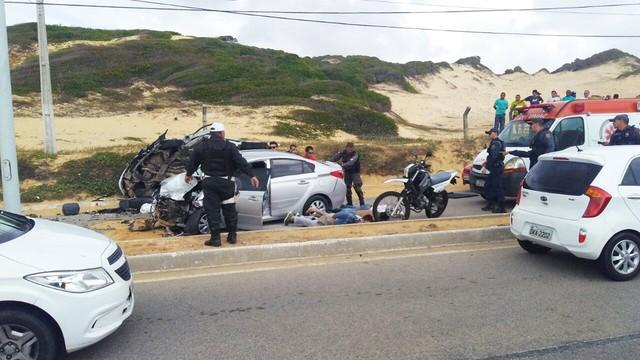 Homem morre após quadrilha tentar fugir de barreira policial (Crédito: Divulgação/PM)