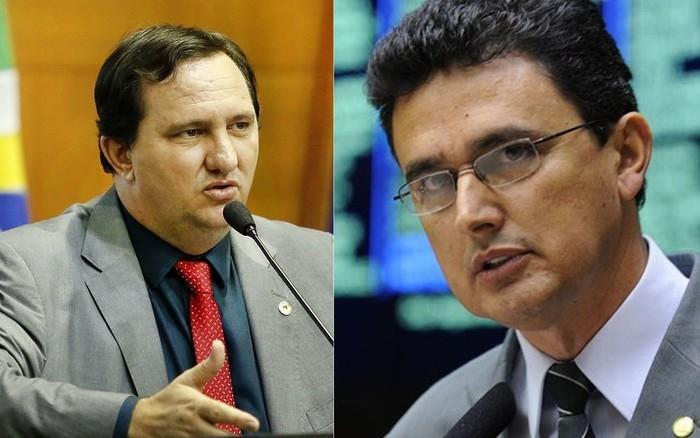 Deputado estadual Valdir Barranco (à esquerda) e deputado federal Ságuas Moraes (à direita) (Crédito: JLSiqueira/ALMT/Reprodução)