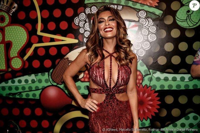 Juliana Paes é rainha de bateria da Grande Rio (Crédito: Agência News)