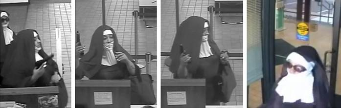 Mulheres vestidas de freiras tentam assaltar banco nos EUA
