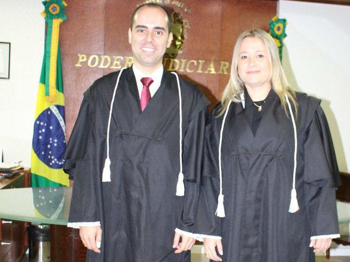 Novos juízes substitutos Sandro Rodrigues e Rita de Cássia da Silva (Crédito: TJ-PI)
