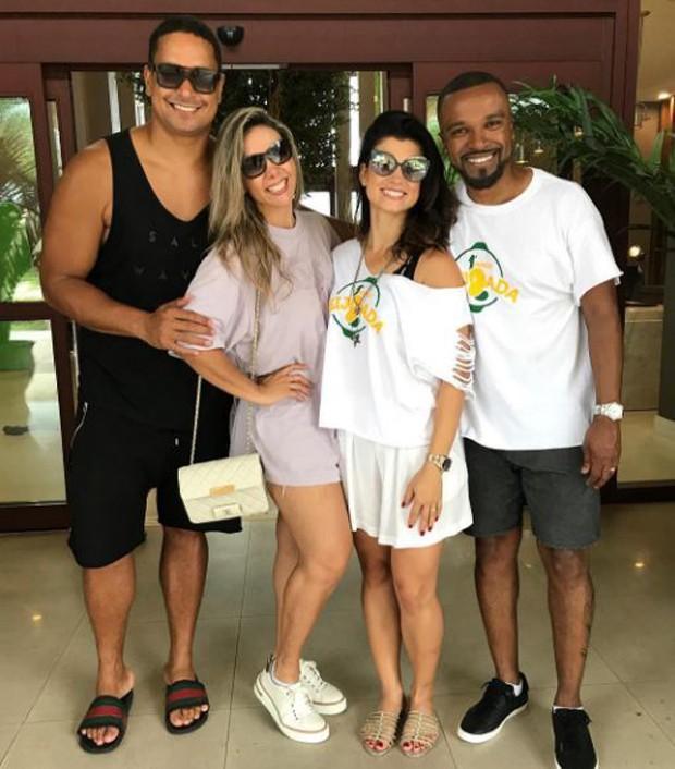 Xandy, Carla Perez, Sara e Alexandre Pires
