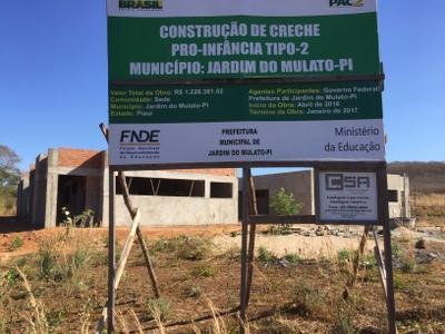 Mulatenses aguardam com ansiedade conclusão de obras no município
