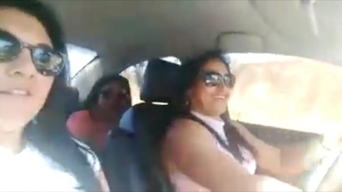 Mulheres gravam vídeo momentos antes de morrerem em acidente (Crédito: Reprodução)