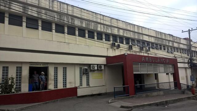 Hospital onde o policial chegou a ser levado (Crédito: Carlos Brito/ G1)