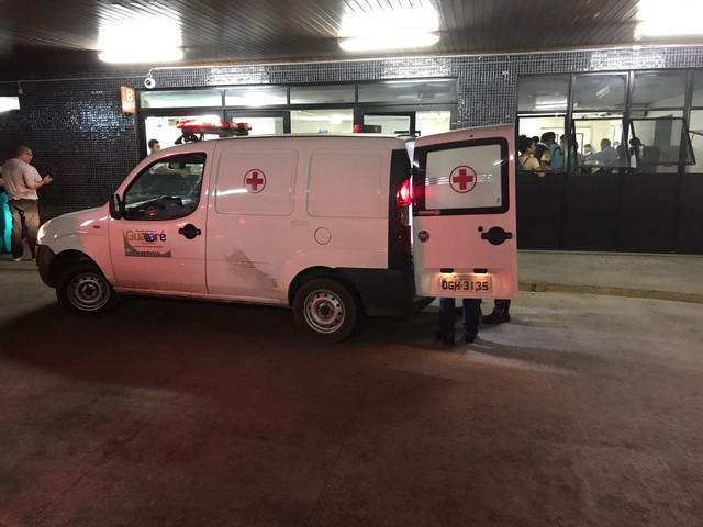 Hospital onde a estudante de medicina recebeu atendimento (Crédito: Kleber Teixeira/Inter TV Cabugi)