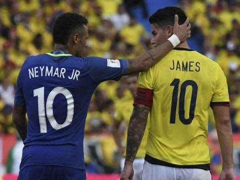James Rodríguez revela o que falou para Neymar durante o jogo