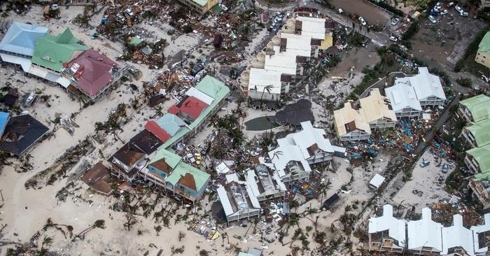 Destruição provocada pelo furacão Irma (Crédito: AFP)