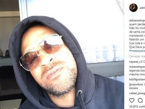 """Adriano manda recado para ex-affair: 'Não foi mulher suficiente"""""""