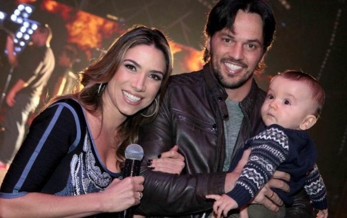 Patrícia, Fabio Faria e o filho Pedro