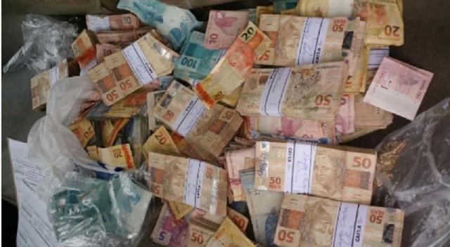 Dinheiro apreendido (Crédito:  SSPDS/Divulgação)