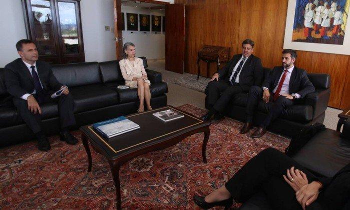 Cármen Lúcia, recebe o diretor-geral da PF, Fernando Segóvia e equipe