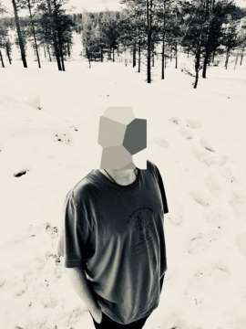 onathan Hirshon até tirou uma foto sua em Lapland, na Finlandia, mas escondeu o rosto