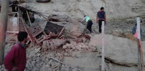 Terremoto no Peru deixa mortos e feridos (Crédito: Xinhua/Coen/Andina)