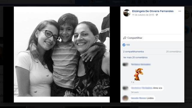 Mãe e filhos morreram no acidente (Crédito: Facebook)